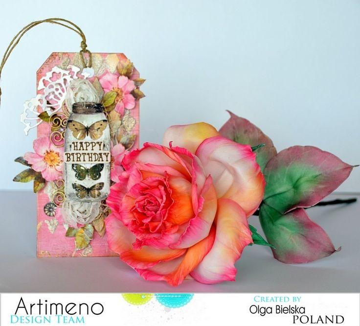 Foamiran, róża, rose, handmade flower.
