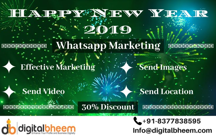 Get 30% discount at New Year Offer on Whatsapp Marketing