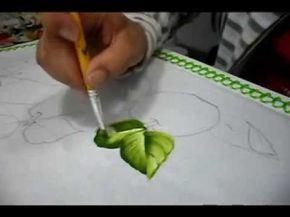 Pintura em tecido - vídeo aula de folhas Pintura em tecido DVD - Frutas Neste DVD Edna Carvalho ensina a pintar as folhas deste projeto, com explicações clar...