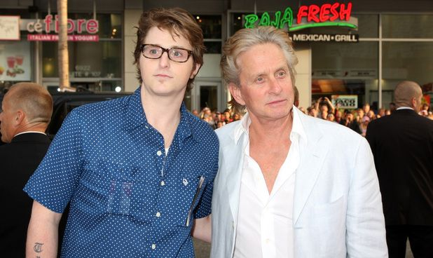 Cameron Douglas, left, and his father, famous actor Michael Douglas, in 2009. Cameron is now serving a 10-year prison sentence for drugs. [Digital Spy]