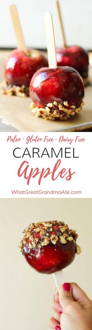Paleo Caramel Apples (Dairy Free, Gluten Free Dessert) via @whatggmaate