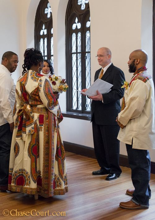 One very small and very special  elopement wedding ceremony at Chase Court!