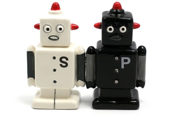 17 Best Images About Robots Are Taking Over On Pinterest: salt and pepper robots