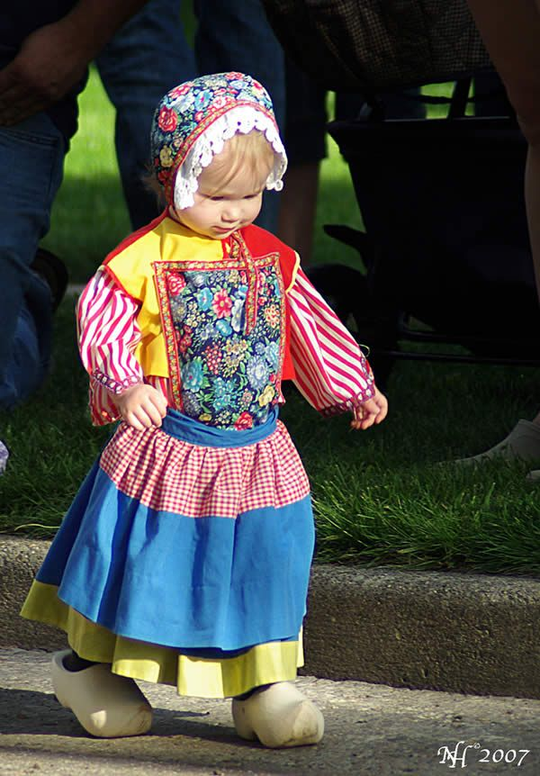 Child in traditional costume, the Netherlands
