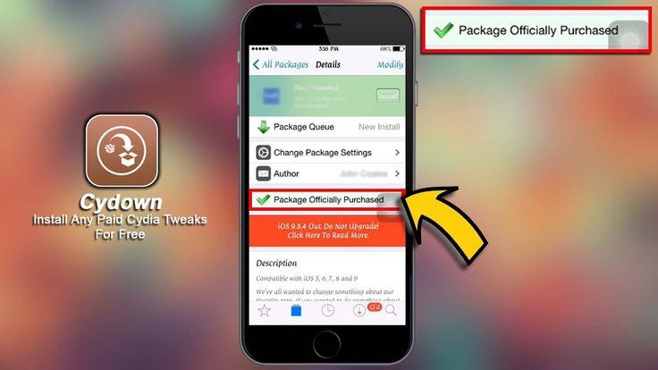 Cydown iOS 10 How To Install Any Paid Cydia Tweaks For Free iOS 10 Jailb...