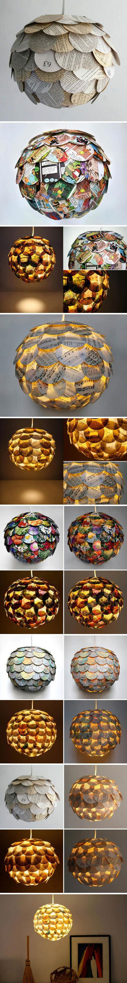 Allison Patrick lamps made of paper
