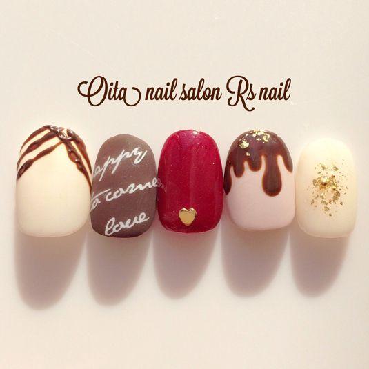 バレンタイン♡チョコネイル