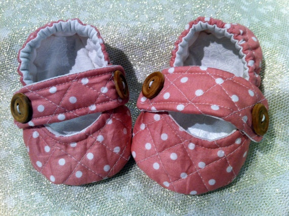 Baby Ava pumps All 100 quilted cotton fully lined by BubBoots, $29.95
