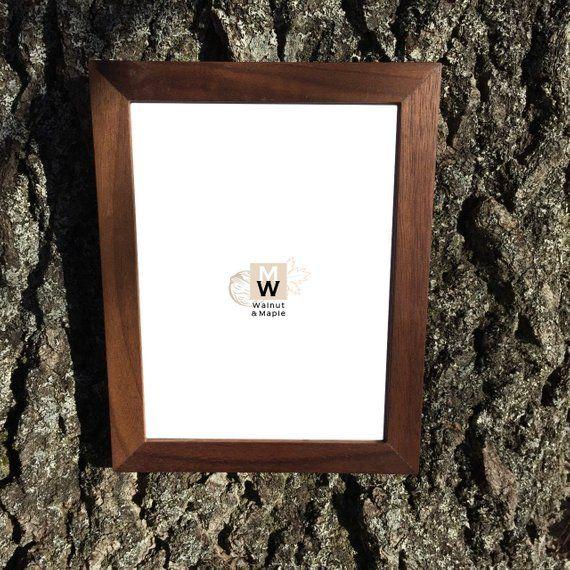 6x8 Slim Walnut Wood Picture Frame Photo Frame Home Decor