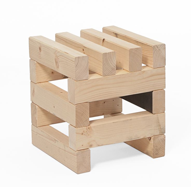 UGLYCUTE, DOMINO STOOL: i take a lot of issue with 'uglycute' as a term but anyway, this would be a cool base for a table. #uglycute #wood #furniture found via @I'm Revolting's blog.