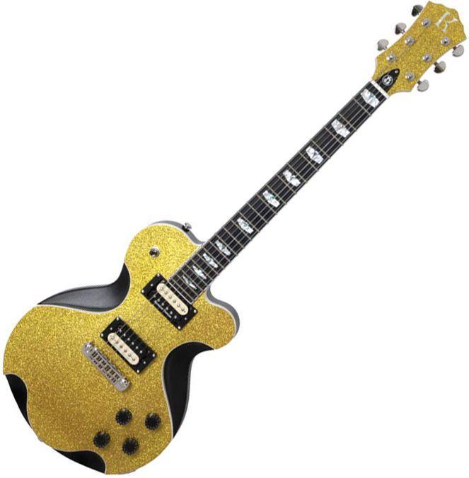 Kraken Janus Supreme Gold Top Unique Design Electric Guitar Sparkle Single Cut #Kraken