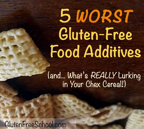 Top 5 Gluten Free Food Additives routinely used by the food industry (and found in many gluten free products) could make you sick. Here's what Chex uses...