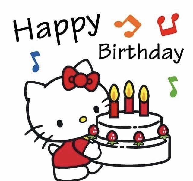 happy birthday hello kitty  hello kitty birthday hello