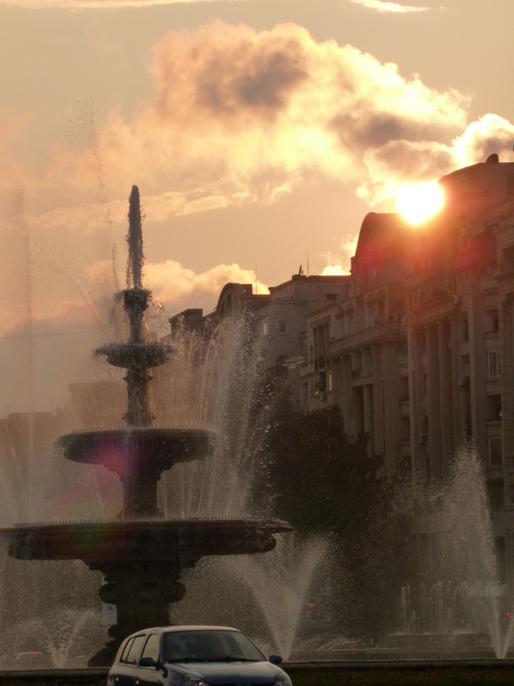 Bucharest, Romania by sunset! I love this place