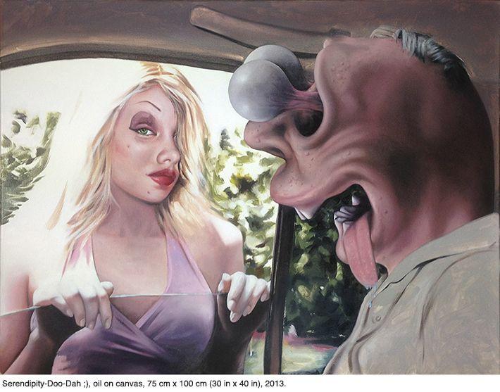 Οι πίνακες του Nathan James έχουν..punchline! - GALLERIA - Lightbox - LiFO