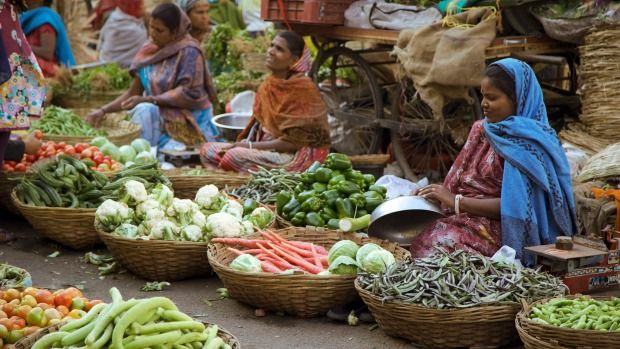 Despite being on the edge of a brutal desert, the markets at Jaipur reflect the rich produce local farmers coax from the soil.