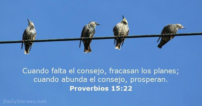 proverbios 15:22