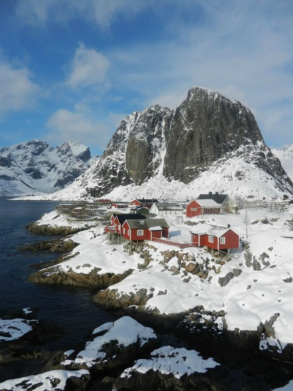 check out here http://earth66.com/village/hamnoy-lofoten-island-norway-tiny-fishing-village-inside-arctic-circle/