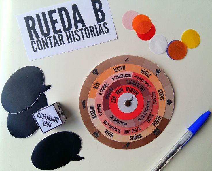 Rueda para Contar Historias. Descarga la plantilla en www.lapizdeele.com