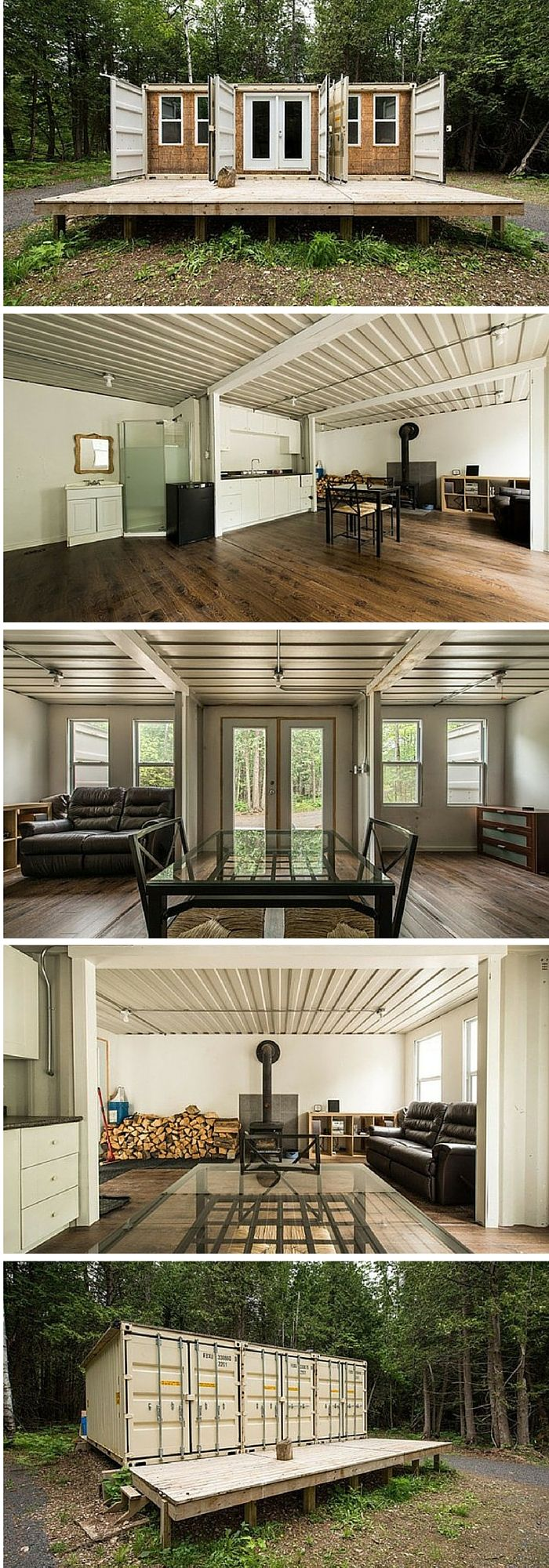 A 355 Square Feet Home Made Of Three Re Purposed Shipping