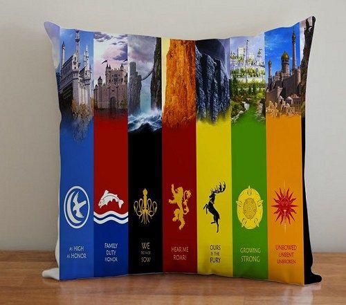 BDP 89 Game Of Thrones - Pillow Case 16x16, 2 side | PodoMoro - Home & Garden on ArtFire