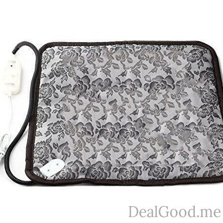Pet Heating Pad Dog Cat Electric Heating Pad Indoor Waterproof Adjustable Warming Mat with Chew Resistant Steel Cord