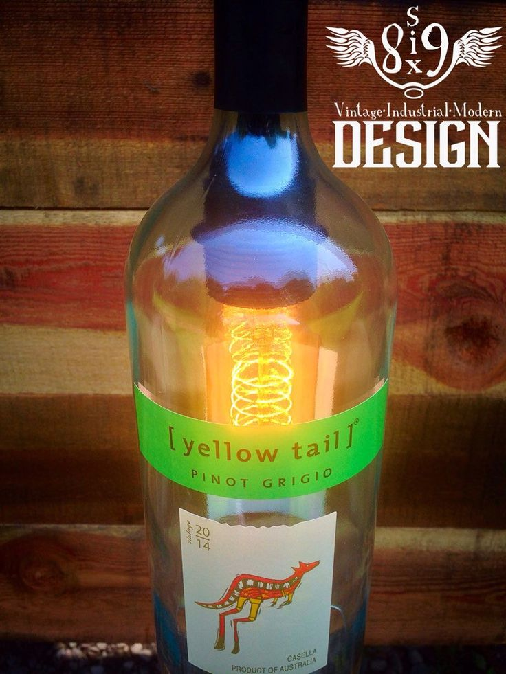 Yellow Tail wine bottle pendant light by 869Design on Etsy https://www.etsy.com/listing/239144407/yellow-tail-wine-bottle-pendant-light