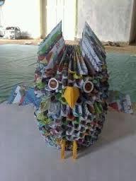 Hasil gambar untuk origami burung hantu