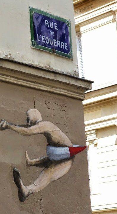 La rue de l'Equerre  (Paris 19ème)