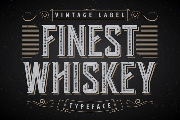 Another Whiskey Label Font by Vozzy on @creativemarket