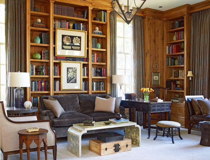 29 best images about ideas for the house on pinterest Traditional home library design ideas