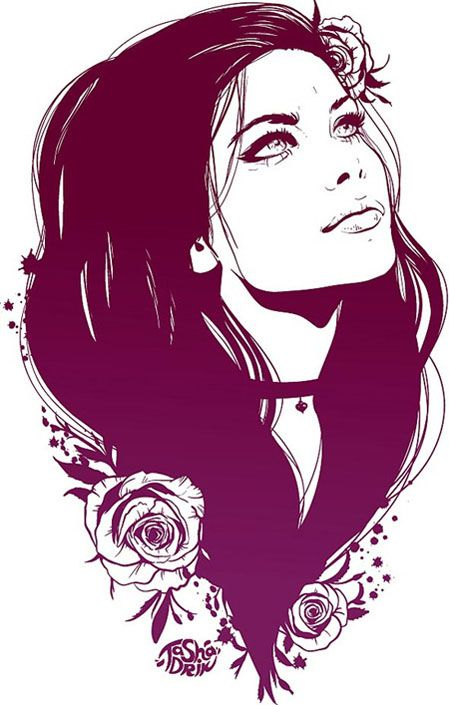 Free Floral Girl vector Graphics - Free Vector Site | Download Free Vector Art, Graphics