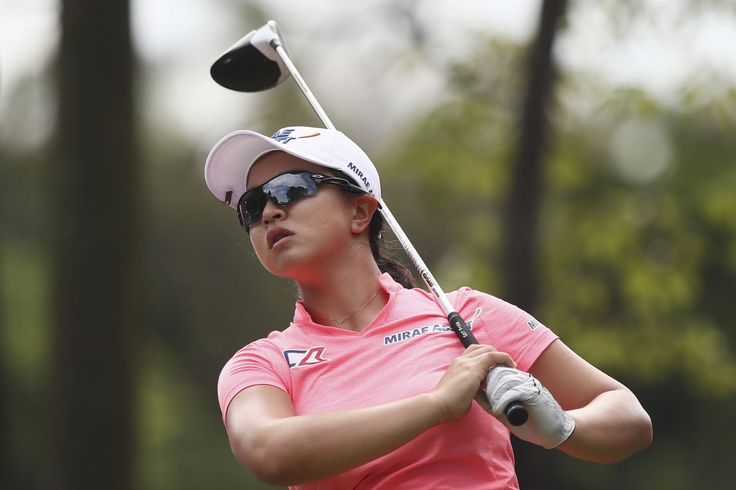 Kim Sei-young of South Korea follows her shot on the 3rd hole during the third round of the Sime Darby LPGA golf tournament at Tournament Players Club (TPC) in Kuala Lumpur, Malaysia, Saturday, Oct. 28, 2017. (AP Photo/Sadiq Asyraf)