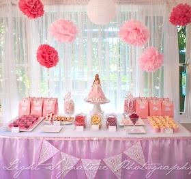 here is a pink princess themed dessert table i did recently for a friends daughter i thoroughly enjoyed putting this pink table together
