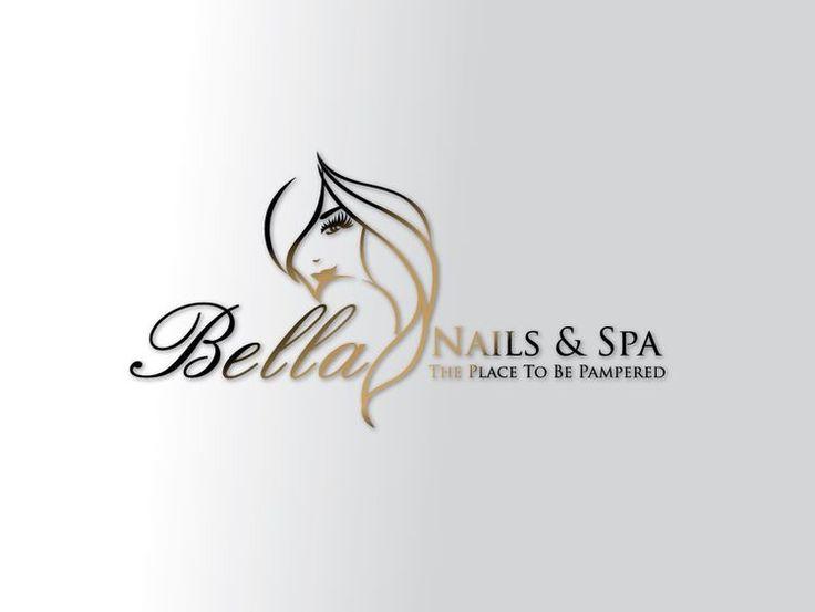 bella nail and spa logo design idea ms - Nail Salon Logo Design Ideas