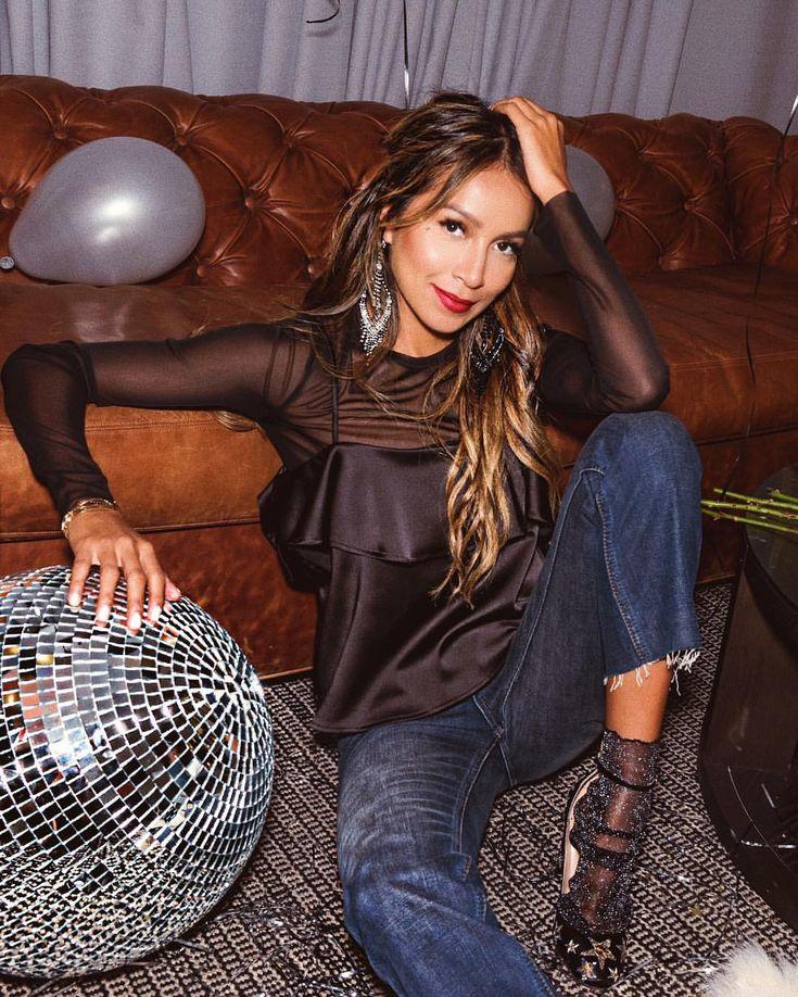 "JULIE SARIÑANA on Instagram: ""Part, party, party! • wearing @shop_sincerelyjules Bella tank & Aidan jeans!  www.shopsincerelyjules.com | shot by @williamcallan"" • Instagram"