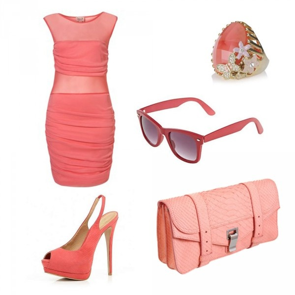 Коралловый оттенок розового в одежде