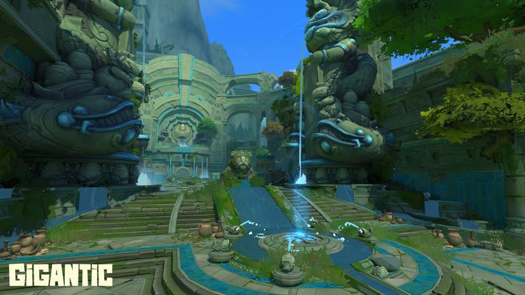 Gigantic's Mistforge was once a temple, but now it's a battleground.