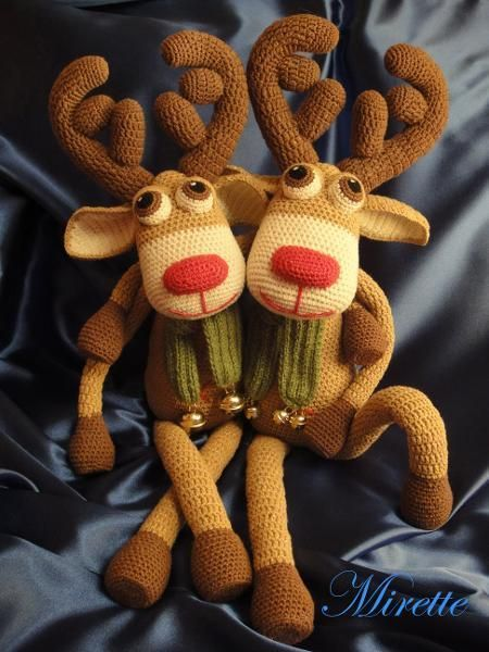 Rudolf deer and his brother project on Craftsy.com this is a pic mo pattern I've posted for idea which is awesome.