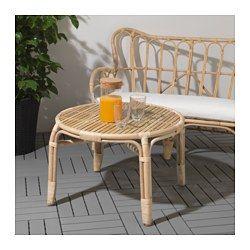 IKEA - MASTHOLMEN, Sofabord, utendørs, , Håndlaget av en dyktig håndverker.Møbler av naturfiber er lette, men også slitesterke og varige.Plastføtter beskytter møbelet når det kommer i kontakt med en fuktig flate.