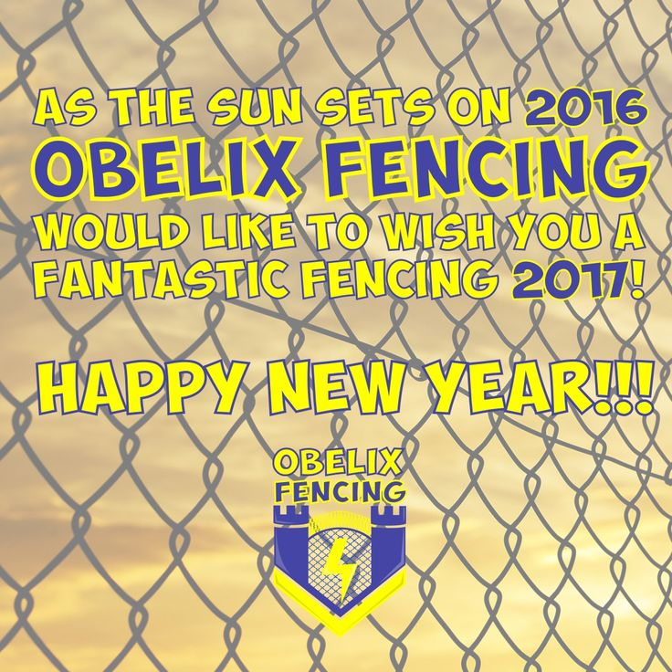 As the sun sets on 2016 Obelix Fencing would like to wish you a Fantastic Fencing 2017!  Thank you for all the support that all of our Fencing Fans have given us in 2016 and we are looking forward to a Fabulous Fencing 2017.  We have a lot of exciting things lined up for 2017 so watch this space because we will be taking it to the next level! :)  We hope all you all have a rip roaring party tonight but please if you are drinking…. do not drive!   #fencing #NewYear #Durban