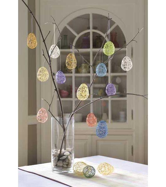 Easter String Eggs