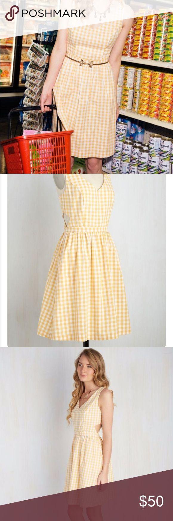 Modcloth Patio My Goodness Dress in Lemonade ModCloth Patio My Goodness yellow l…