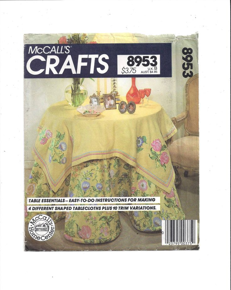McCall's 8953 Crafts Pattern for Table Essentials, Shaped Round & Oval Tablecloths with Swags, From 1980s, Instruction Book, Vintage Pattern by VictorianWardrobe on Etsy