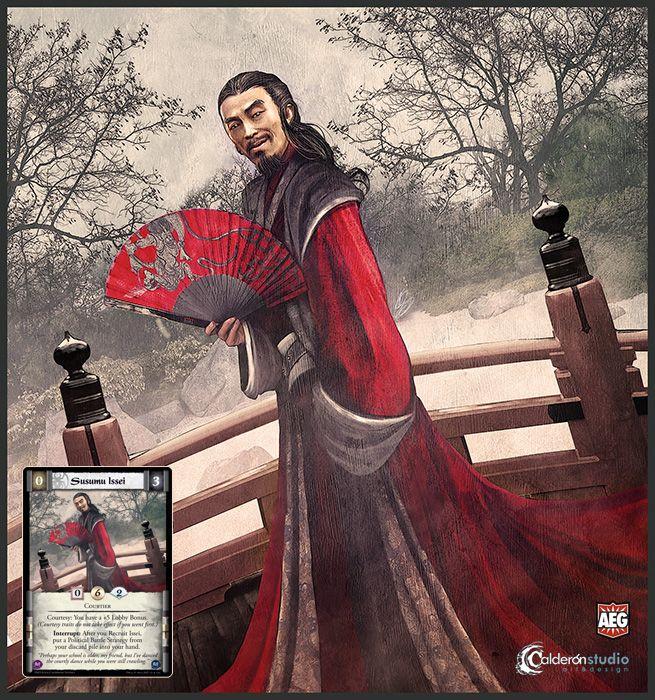 Ilustración que he realizado para la carta Susumu Issei que aparece en la nueva expansión The New Order del CCG The Legend of the Five Rings. Art for L5R The New Order card, Susumu Issei.
