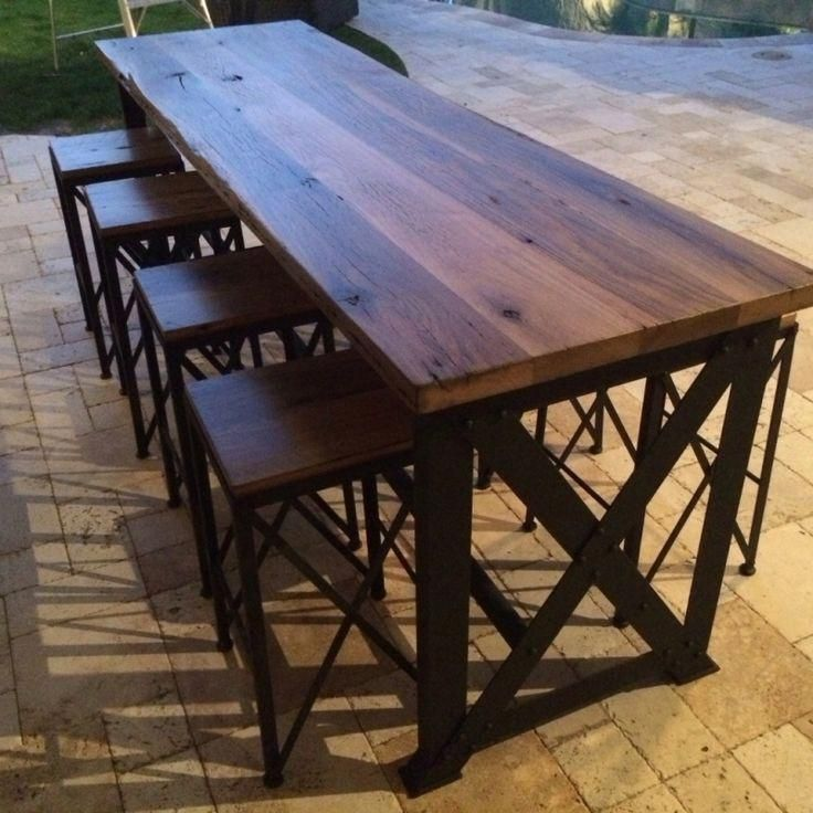 Outdoor Bar Table Pub Sets, Outdoor Bar Top Dining Table