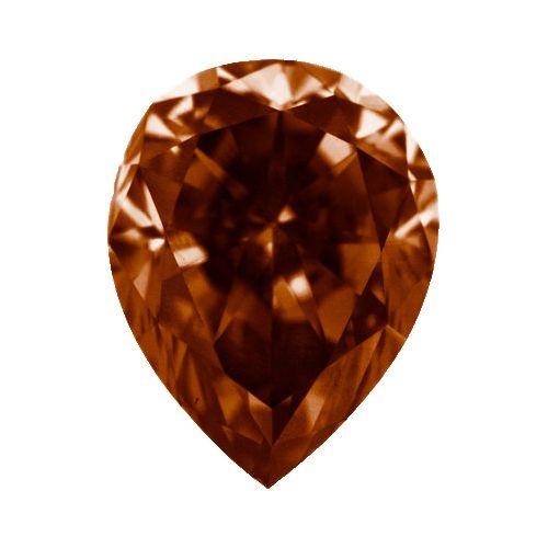 1.20 Karat Cognacfarbener Diamant Tropfenschliff  #diamant #cognac #juwelier #abt #dortmund #tropfen #schliff