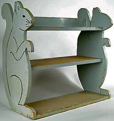 old child's squirrel shelf
