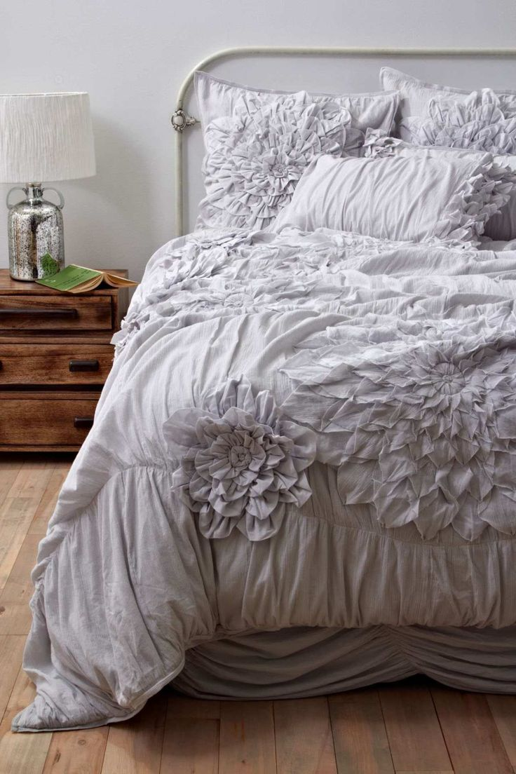 160 best beautiful bedding images on pinterest bedrooms anthropologie georgina bedding light grey this site is phenomenal beautiful stuff for the home