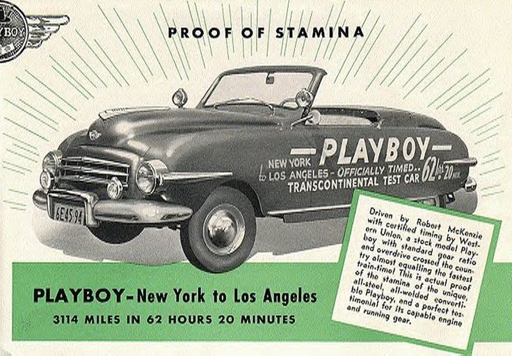 Playboy Motor Car Corporation Was A Buffalo New York